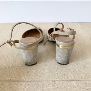 Calvin Klein gray heels